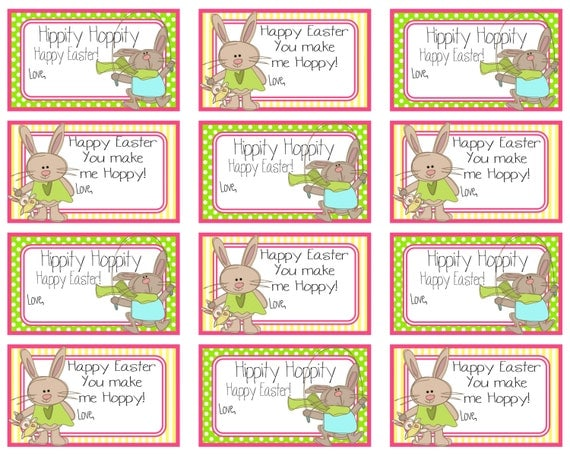 Happy easter gift tags crafthubs printable easter gift tags happy easter you make me hoppy negle Image collections