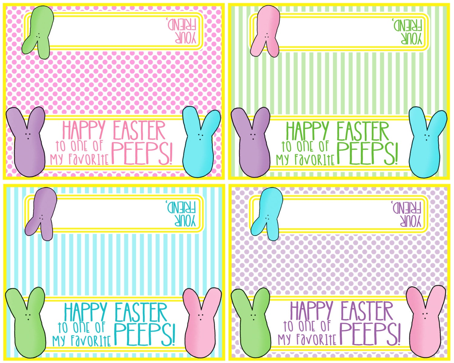 Printable easter bag topper happy easter to one of my zoom negle Images