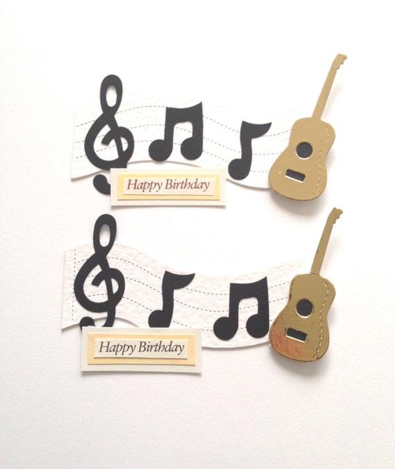 2 Large Music Lover Guitar Note 'Happy Birthday' Die