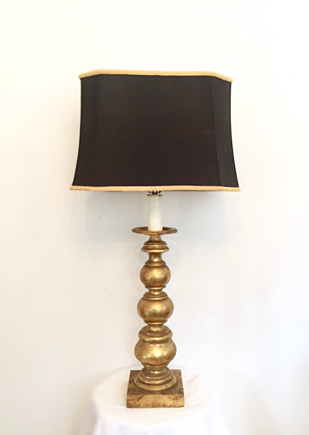elegant gold and black table lamp by farmhousefare on etsy. Black Bedroom Furniture Sets. Home Design Ideas