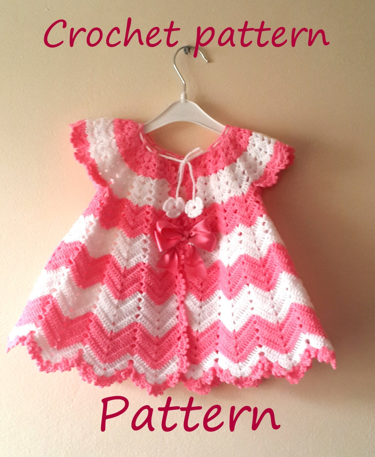 Crochet Baby Outfit Pattern : Crochet Baby Dress Pattern First Outfit Baby Shower Gift