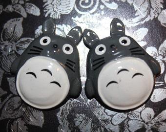 Totoro Cabochon flat back 2pcs