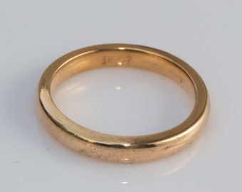 18 ct solid gold wedding ring