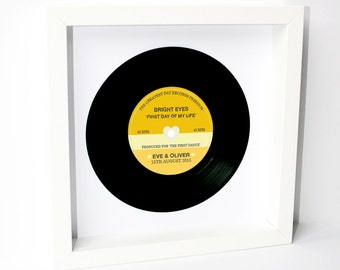 Personalised Wedding Vinyl Record Frame - First Dance, Special Song, Wedding Gift