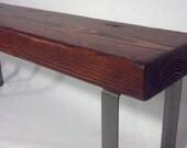 Rustic & Industrial Entryway Bench