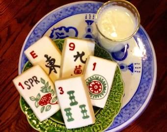 Hand-decorated Mah Jong sugar cookies 12 to a set