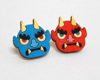 Oni Demon Stud Earrings