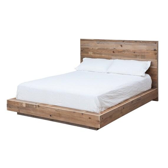 modern reclaimed wood platform bed by waltonwoodcraft on etsy. Black Bedroom Furniture Sets. Home Design Ideas
