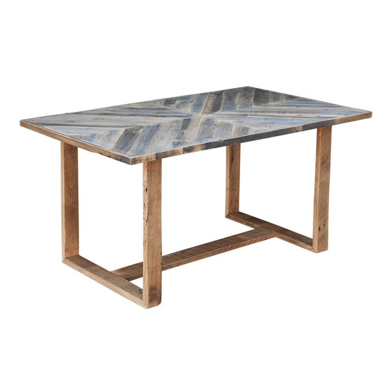 Rustic Modern Reclaimed Wood Dining Table Desk By Waltonwoodcraft