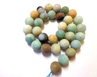 Beautiful Round Matt Amazonite