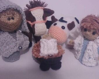 Nativity Crochet Six Pieces