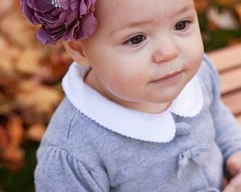 Large Flower Headbandlower headband, baby headband, baby girl headband, ranunculus headband, bow headband