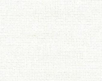 Fat Quarter (19.5 x 27.5 Inches / 50 x 70cm) of 28 Count Zweigart Brittney Evenweave (White / Antique White / Ivory)