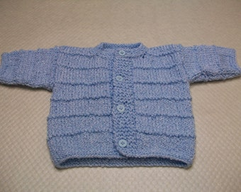 Blue Baby Cardigan, Blue Baby Sweater, Blue Baby Top, Newborn Blue Cardigan, Newborn Blue Top