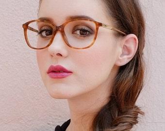 Oversized Vintage Style Tortoiseshell Thin Square Glasses