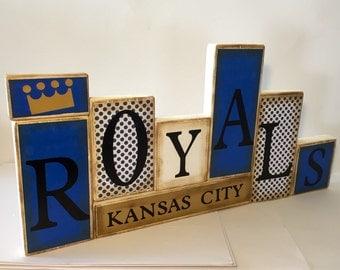 Kansas City Royals Word Blocks - KC Wooden Block Set