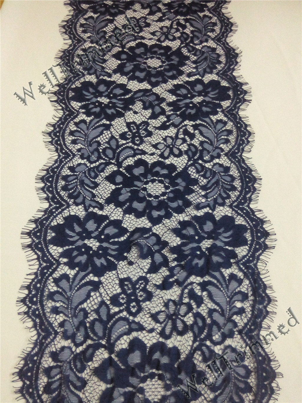 10ft navy lace table runner 10 wide wedding table by for 10 foot table runner