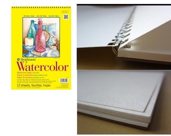 12 Sheets Of Watercolor Paper Pad 9 Inch by 12 Inch, Sheets are Made For Watercolor Painting Work, Quality Watercolor Paper Pads For Art
