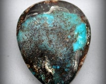 Arizona smokey Bisbee Turquoise cabochon jewelry design wire wrapping cab 8