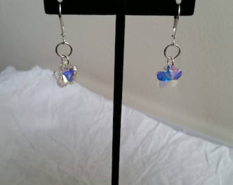 Sparkling and fun swarovski crystal flower earrings