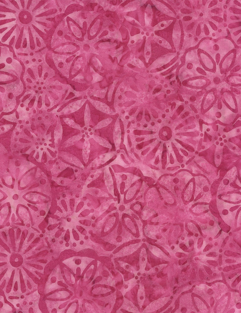 Sale petal patchwork pink batik fabric half yard or by the for Fabric for sale by the yard