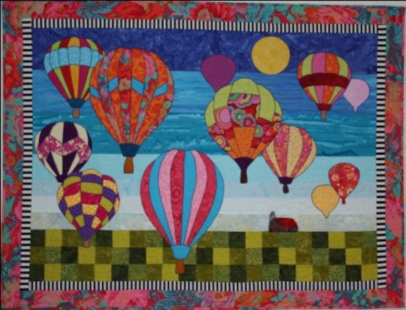 BJ Designs & Patterns Morning Flight Hot Air By