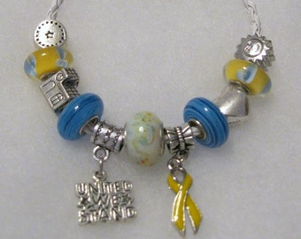 409 - CLEARANCE - Yellow Awareness Bracelet