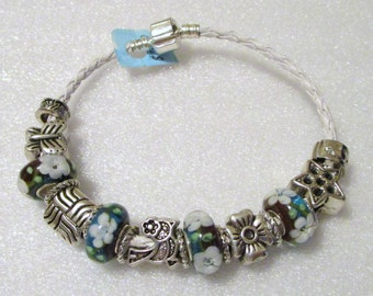 756 - CLEARANCE - Red & Teal Beaded Bracelet