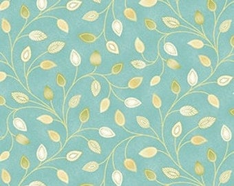 ON SALE 1  yard Aria Melody Turquoise by Benartex