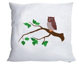 Fluffy pillow case 'OWL' 40x40cm