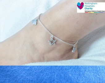 TFIOS  themed chain anklet.