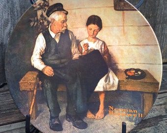 The Light house Keepers Daughter 1979,Norman Rockwell Plate