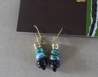 Multi beaded earrings