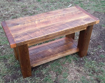 Rustic barnwood coffee table