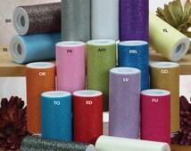 Glitter Tulle Spool Roll Fabric Net, 5-3/4-inch, 10-yard