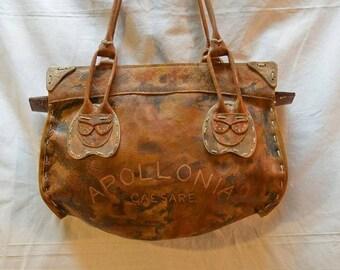 Unique multicolor leather purse
