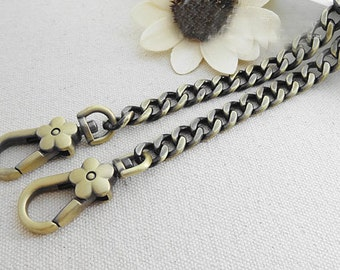 9mm wide light weight anti brass chains for purse,chain shoulder,chain for bag