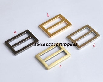 0.75 inch (20mm inner size) Nickel alloying rectangle sliders strap adjuster.10 Pcs