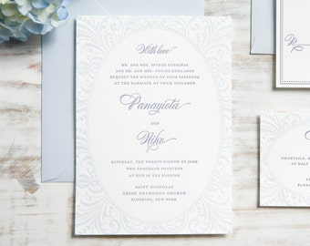 The Pam Suite | Letterpress Wedding Invitation SAMPLE