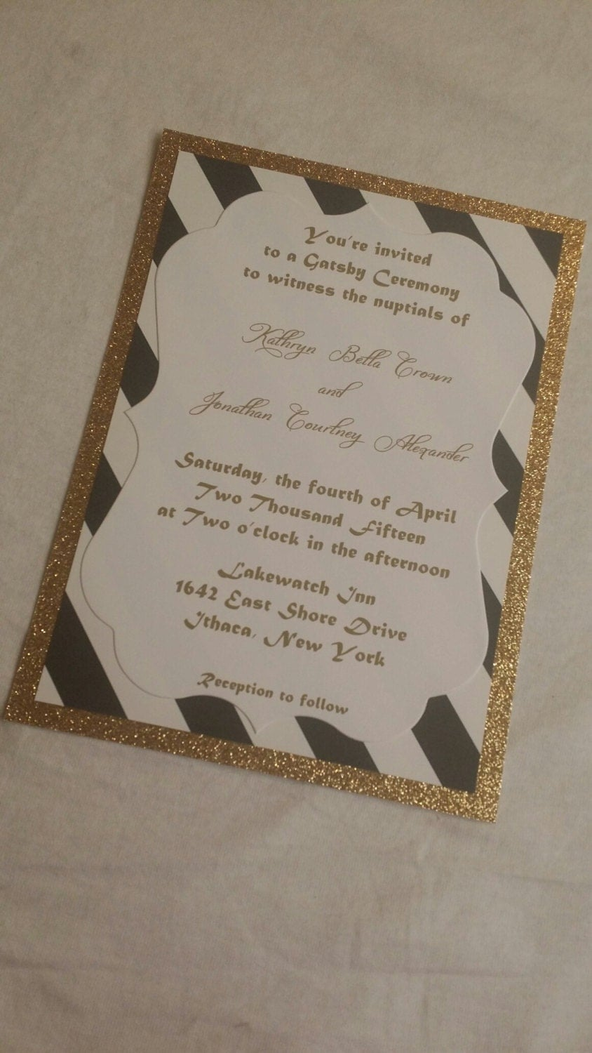 Art Deco Wedding Invitations Gatsby Wedding Invitation 1920 Great Gatsby Th