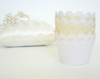 Set of 24 Wedding Cupcake Wrappers