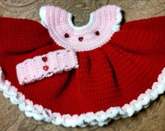 Valentines day crochet dress