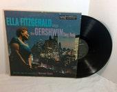 Ella Fitzgerald vintage vinyl record - Sings Gershwin Song Book Vol 1 LP album || 50's Jazz