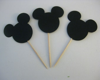 Mickey Mouse Cupcake Toppers, Mickey Mouse Party Decorations, Party Decoration, Birthday Party