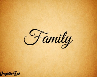 Family Vinyl Wall Decal Wall Words Family Wall Decal