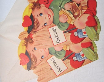 Valentines Greetings NOS 1950's cards