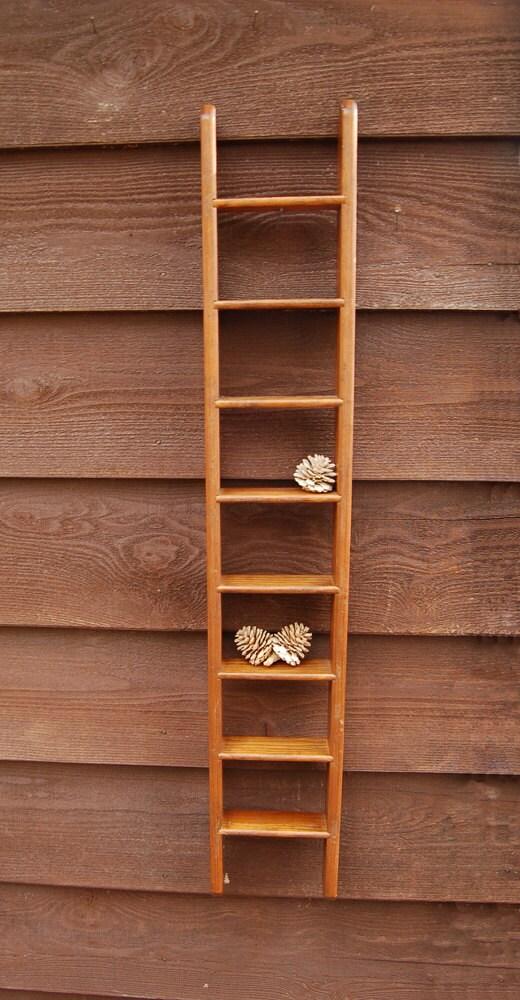 Wooden Ladder Wall Shelf Vintage Ladder By Pinespringscottage