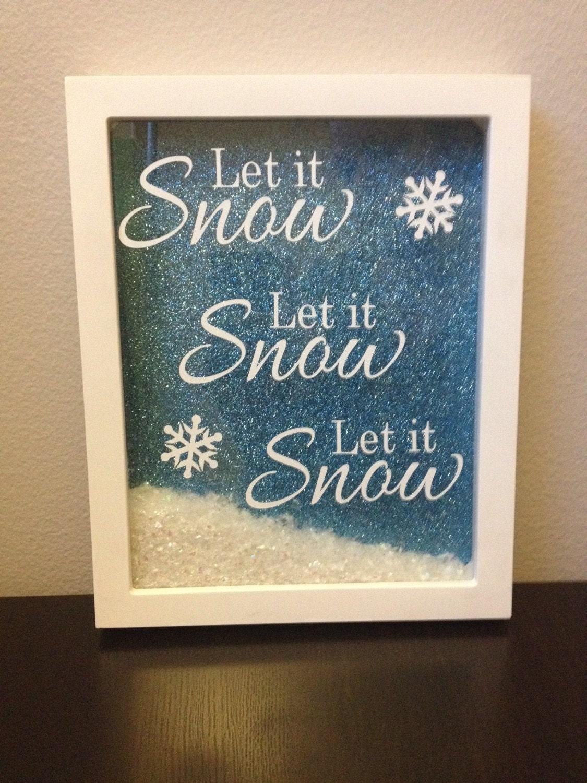Let It Snow Christmas Shadowbox Decoration
