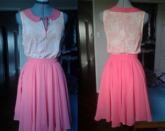 Custom Gathered Chiffon Circle Skirt