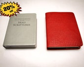 Bible Cover RED Leather - New World Translation LARGE PRINT (Reference)